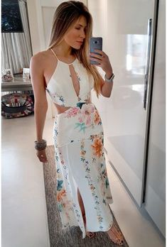 Tie Dye Outfits, Everyday Dresses, Casual Looks, Off White, Ideias Fashion, My Style, Womens Fashion, Clothes, Patterned Dress