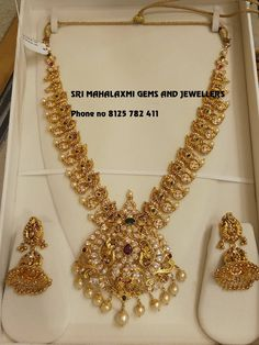 Gold Earrings Designs, Gold Jewellery Design, Diamond Jewellery, Necklace Designs, Gold Chain With Pendant, Gold Pendant, Pendant Jewelry, Beaded Jewelry, Gold Jewelry Simple