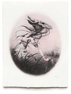 "Image of ""Skinwalker"" intaglio print - limited edition"
