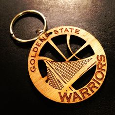 Golden State Warriors Keychain. $5.00, via Etsy.