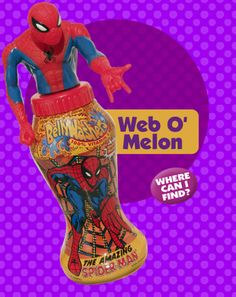 """(Release 12) Character and Collector Number: Spider-Man 08050-1.  (Check out """"Arm Action"""") Flavor: Web-O-Melon.  Launch date: June 2001."""
