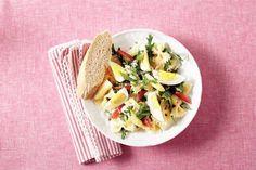 Pastasalade met asperge en rookvlees
