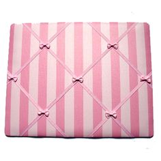 Pink Stripe Memo Board - a perfect place to pin your child's artwork and photos