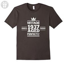 Mens Best Birthday Gifts For 80 Years Old. Best Gift For Him/Her. Medium Asphalt - Birthday shirts (*Amazon Partner-Link)