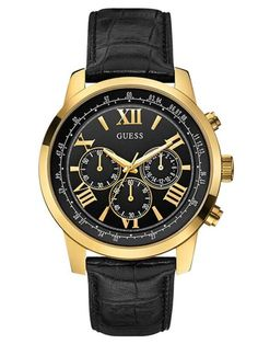 Guess Blue and Rose-Gold-Tone Classic Sport Chronograph Men's watch Cheap Watches For Men, Fossil Watches For Men, Mens Watches For Sale, Guess Watches, Mens Watch Brands, Mens Watches Leather, Sport Watches, Fashion Watches, Men's Fashion