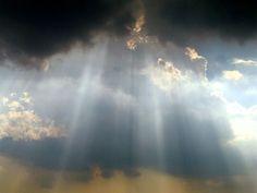 God's light through the clouds