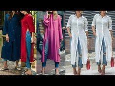 3795253c705c Denim kurti designs to wear with jeans  palazo pants