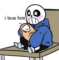"""wendygo: """"Imagine tiny baby bones sans meeting his little brother for the first time and just immediately thinking the world of him because that's what I've been imagining and crying """""""
