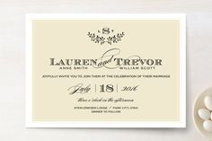 I love this look as it is very classic. Aspen Ridge Wedding Invitations by Eric Clegg at minted.com