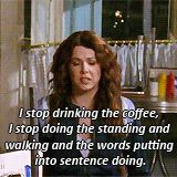 One of the thousands reason why I have always loved Gilmore Girls. And coffee.