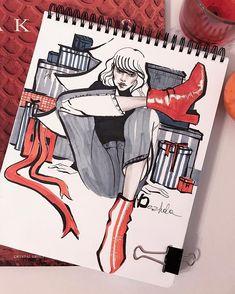 Fashion Illustration Speed Painting with Ink - Drawing On Demand Fashion Illustration Sketches, Illustration Mode, Fashion Sketchbook, Fashion Sketches, Fashion Moda, Fashion Art, Megan Hess, Model Sketch, Fashion Design Drawings