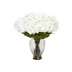 """22"""" Hydrangea in European Vase, Faux (1,370 CNY) ❤ liked on Polyvore featuring home, home decor, flowers and european home decor"""