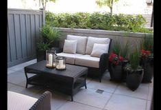 Wonderful Small Condo Patio Design Ideas to Inspire You Small Patio Design, Backyard Patio Designs, Small Backyard Landscaping, Backyard Ideas, Garden Ideas, Landscaping Ideas, Balcon Condo, Apartment Patio Gardens, Cozy Patio