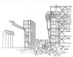 sir norman foster paris pompidou sketch - Google keresés