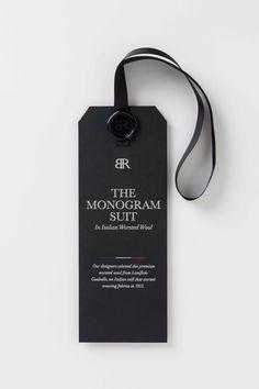 Monogram hangtag