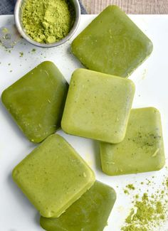 Peppermint Lotion Bars With Matcha - WomansDay.com