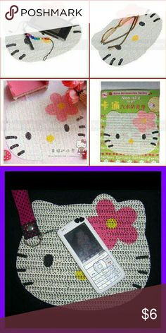 1 hello kitty rubber net anti slip mat Great for the car, desk for phone, key Hello Kitty Other