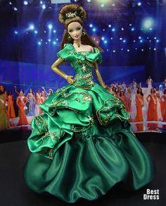 Ninimomo's Barbie. Европа. Мисс Люксембург (платье Dior) 2009/2010