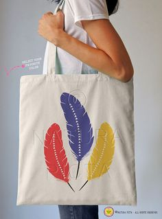 027ce7a72c Bohemian feathers tote bag-feathers tote-boho tote by naturapicta Pírka