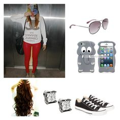 """Sem título #17"" by malena-336 ❤ liked on Polyvore featuring Criminal Damage, Converse and Marc by Marc Jacobs"