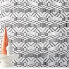 Ideal for renters or serial redecorators, these removable wallpaper panels from Chasing Paper give you the look of real wallpaper without the fuss. Their low-tack adhesive makes the… Geo Wallpaper, Wallpaper Panels, Prepasted Wallpaper, Wallpaper Installation, Irving Wallpapers, How To Install Wallpaper, Design Repeats, Fabric Panels, Art Deco Fashion