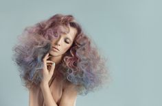 Pastel curly hair