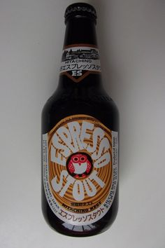 Cerveja Hitachino Espresso Stout, estilo Foreign Extra Stout, produzida por Kiuchi Brewery, Japão. 7.5% ABV de álcool.