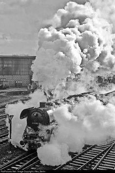 RailPictures.Net Photo: 44 0393 Deutsche Reichsbahn Steam 2-10-0 at Saalfeld, Germany by J Neu, Berlin