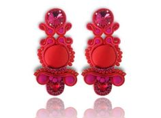 Earrings Soutache - Sylvia  #Soutache #earrings, Soutache #jewerly, #handmade jewerly, #bijoux, #orecchini, #pendientes #fashion #design #madeinitaly
