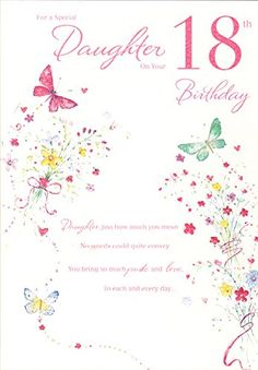 Special Daughter 18th Birthday ICG Card Amazonco