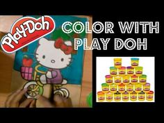 Play doh Hello Kitty Coloring Page - YouTube