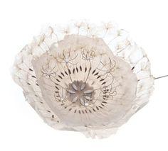 Sabrina Meyns, Ireland, Brooch: Untitled, 2009, Handmade paper, dandelion seeds, fine silver, stainless steel / www.sabrinameyns.com