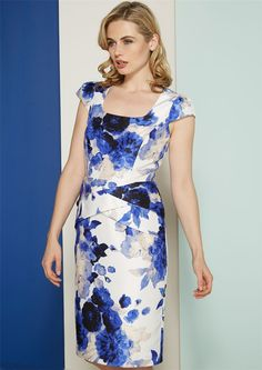 Cross Over Floral Dress - at Roman Originals