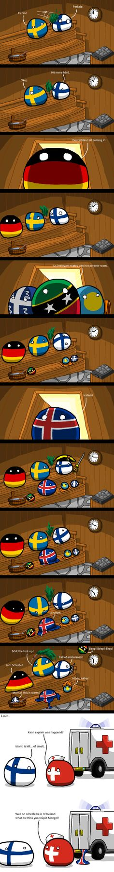 Iceland cannot into Sauna - 9GAG