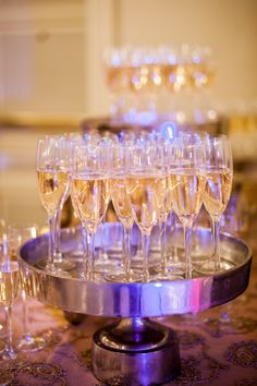 Champagne Display, Wedding, Blush pink, Gold, Westin Columbus Ohio, Benjamin James Photography, The Finer Things Events
