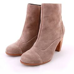 Front Row At Fashion Week Boots #milkandhoneyny #fall #fashion #cute #adorable #retro #style #love #womens #shopping #shop #boutique #shoes #booties #boots #ankleboots #suede #taupe #neutral #heels #dolcevita