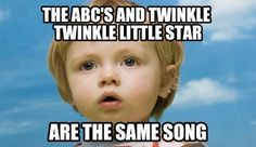 abcs and twinkle twinkle are same song