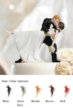 Romantic Dip Couple Cake Topper (color Options)