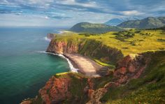 Ziemia - Coastline  - Far East - Rosja - Kamchatka Tapeta