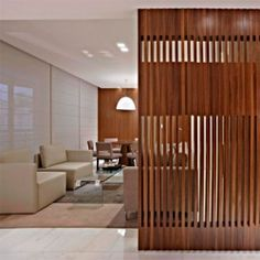 Partitions are trend in decorating, take a tour of a house that uses a  wooden