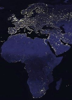 Image: NASA Let's begin our tour of the Earth from Space by looking at the Earth at night: This is a composite picture taken at various times during the night that was then pasted together to create the appearance of Earth at night. Or did you think it is night all over the world at ...