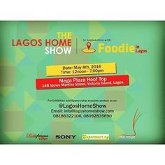 PSA: If you would like to showcase your food and crafts Holla   #Repost @thestagexposition  The goal of the Lagos Home Show and Foodie in Lagos Fair is to create an experience for Lagos best food and drink brands as well as promotion of crafters both established and up and coming. At this one day event guests will enjoy shopping and eating and drinking from an extensive selection in Lagos.  We would also like to see more people craft / use locally sourced material for production. If this is…