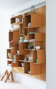 shelves. Other idea: This with wine crates!
