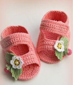baby crochet sandals pattern free diagram ༺✿ƬⱤღ https://www.pinterest.com/teretegui/✿༻