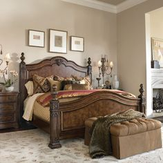 Turn Your Home Into A Masterpiece With Elegant Drexel Heritage Furniture  Like This Casa Vita Bedroom