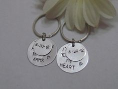 LOVE QUOTE Keychain  with Special Date-- Boyfriend/ Girlfriend -- Engagement -- Long Distance Relationships