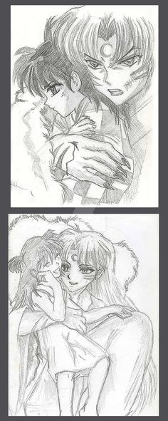 Sessh and Rin Nov Doodles by AmberPalette
