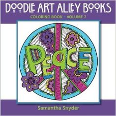 Word Coloring book from Doodle Art Alley