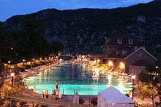 Night Swimming. Hot Springs at Glenwood Springs.