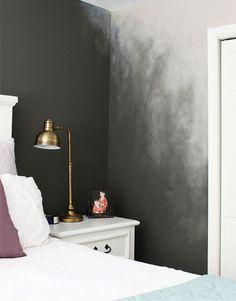 kreative wand streichen ideen für schlafzimmer mit ombre effekt